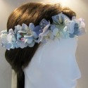 Corona Popurri Azul pálido y azul grisaceo