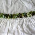 Cinturon popurri tonos verdes