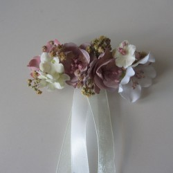 Large pin or pin flowers powder pink off-white and ivory
